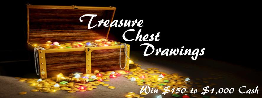 Treasure chest poker schedule